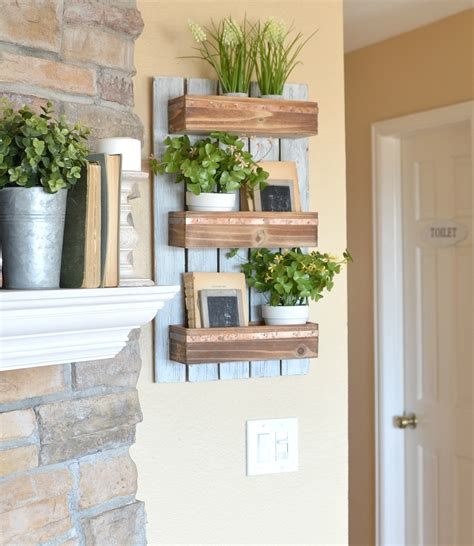 hanging planter box diy wooden wall planter vintage nest
