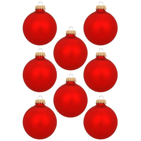set of 8 flame red glass ornaments glass sets sets 1