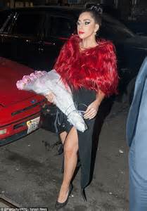 Detox Wrap New York by Gaga Covers Up In Feather Wrap Hours After Wearing