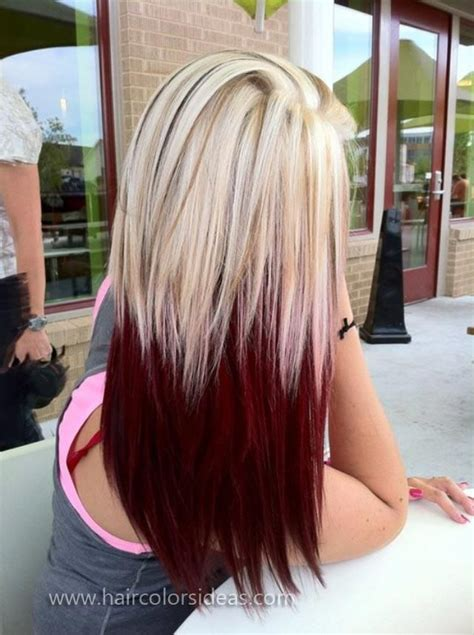 Red On Top Blonde On Bottom Hair Styles | barbie blonde on top red velvet on the bottom im