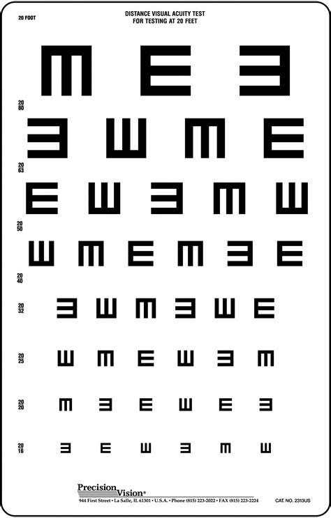 printable low vision eye chart translucent tumbling quot e quot vision test chart precision vision