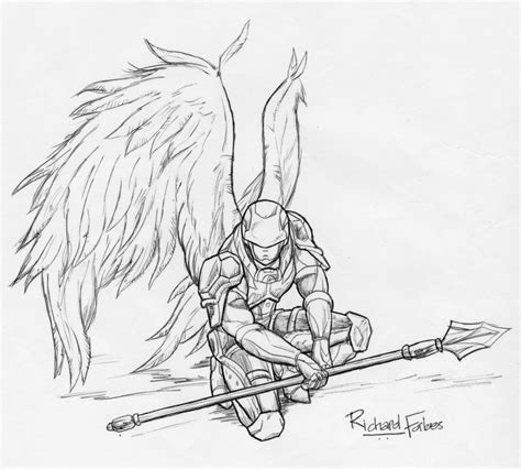 angel warrior by rozhvector on deviantart