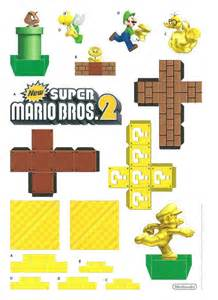 Mario Papercraft - mario bros 2 papercraft diorama summer stuff for