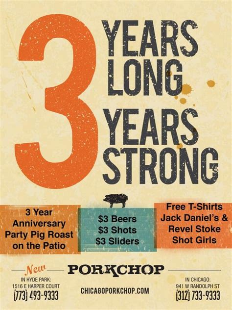 3 Sections In 3 Years by Porkchop Chicago 3 Year Anniversary Nowyouknow