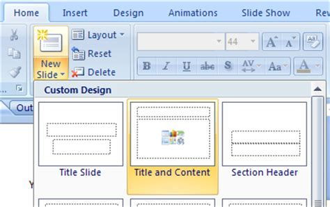 layout button powerpoint insert a clip art image using a slide layout clip art