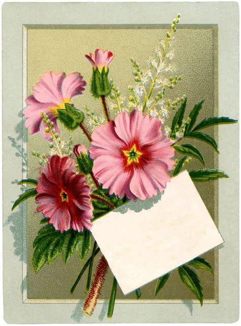 Flower Vintage vintage floral bouquet label the graphics