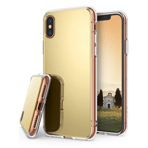 Mirror Iphone ringke mirror selfie iphone x golden gold hurtel pl