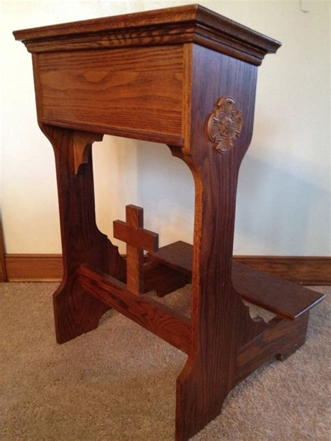 knee bench traditional oak prayer kneeling bench prie dieu