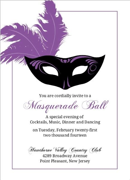 Card Mask Templates For Sale by Flashy Purple Mask Mardi Gras Invitation Mardi Gras