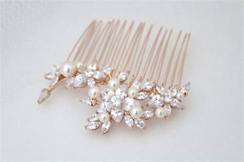 Hair Comb Flowers And Pearls Lh002 gold hair comb bridal hair comb flower