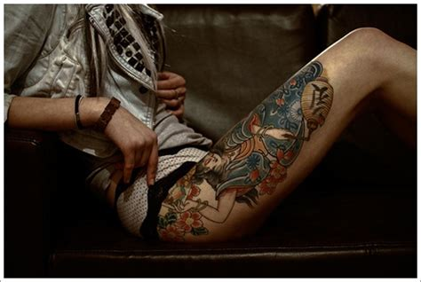 thigh tattoos for women upper thigh tattoos dragon thigh