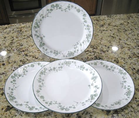corelle pattern finder corelle callaway green ivy 10 1 8 quot dinner plates swirled