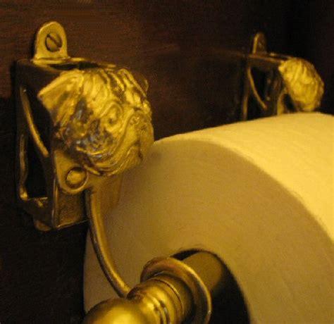 pug holder pug bronze toilet paper holder or paper towel holder