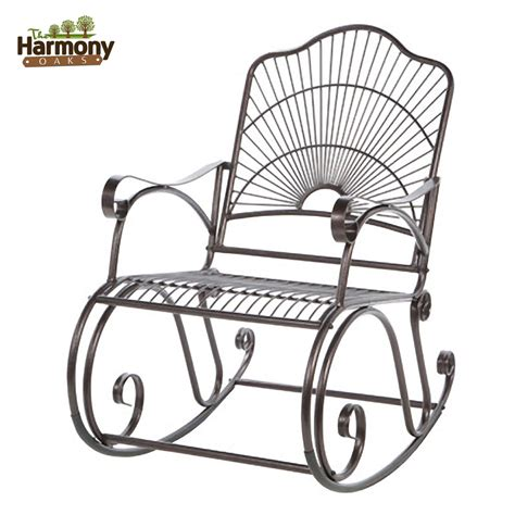 Wrought Iron Rocker Patio Chairs with Rocker Wrought Iron Outdoor Patio Porch New Furniture Rocking Chair Backyard New Ebay