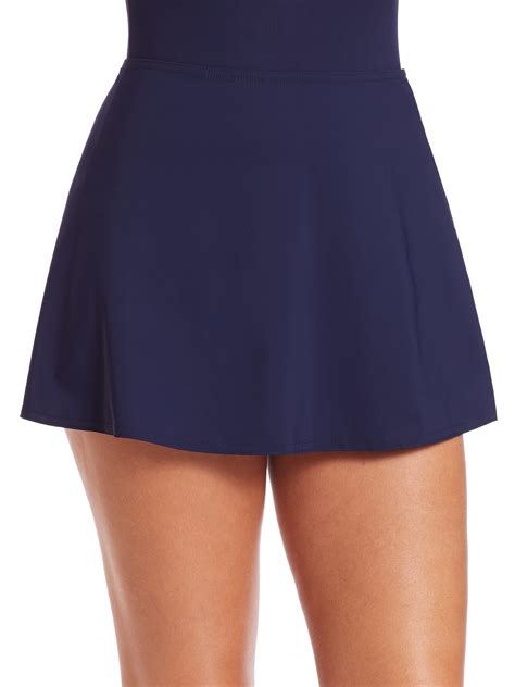 karla colletto a line swim skirt in blue lyst