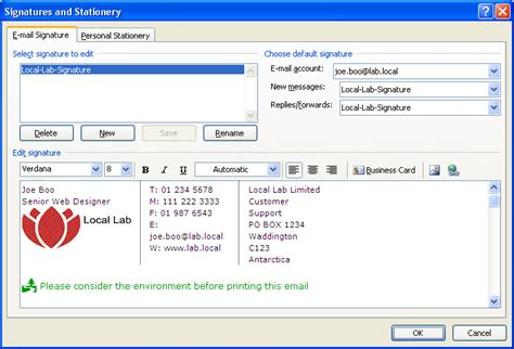 Automated Outlook Signatures Vbscript Ifnotisnull Outlook Signature Template