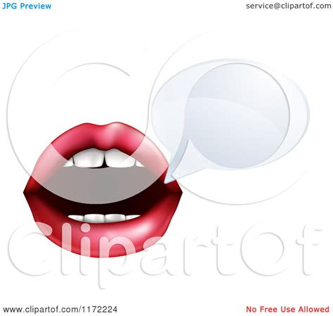 cartoon of a talking mouth with a speech bubble royalty