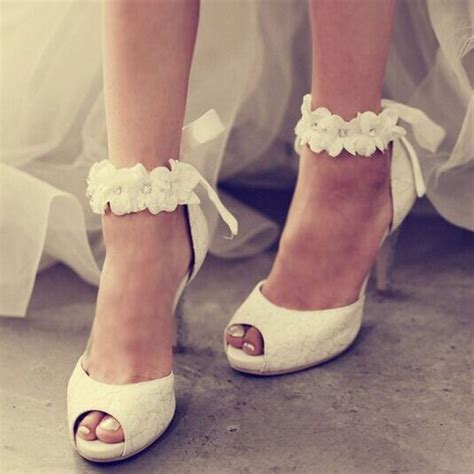 Bridal Shoes For by Ankle Appliqued Peep Toe Wedding Shoes Bridal Shoe