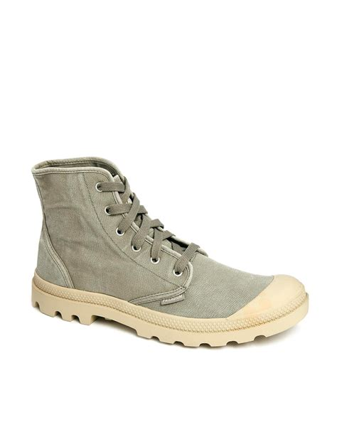 palladium boots palladium pa hi boots in gray for grey lyst