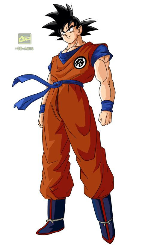 imagenes sin fondo png goku coloreado sin fondo by sd arts on deviantart