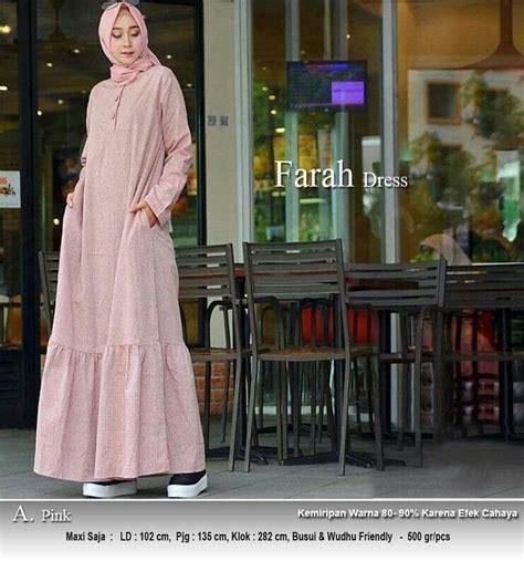 Supplier Baju Mecca Syari Bn2 model baju gamis syari rami polos terbaru farah pink r2 gamissyari net