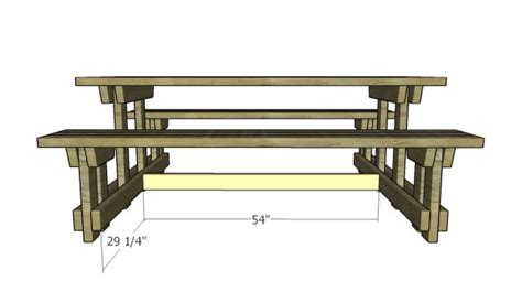 picnic table with separate benches picnic table with detached benches plans myoutdoorplans