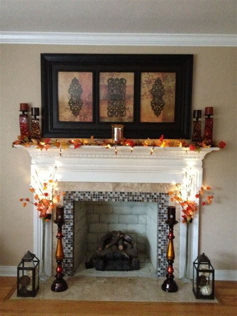 decoration fireplace 25 best ideas about fall fireplace decor on pinterest