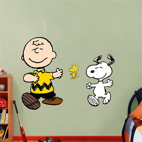 snoopy wall stickers brown and snoopy fathead wall decal