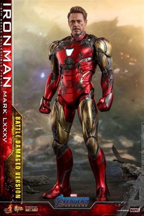 hot toys battle damaged iron man mark figure