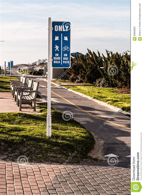 design elements virginia beach va virginia beach boardwalk bike path and benches stock photo