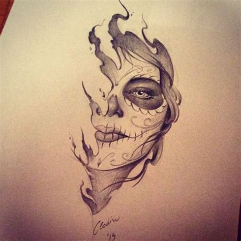 muerte tattoo design 207 best catrina santa muerte images on