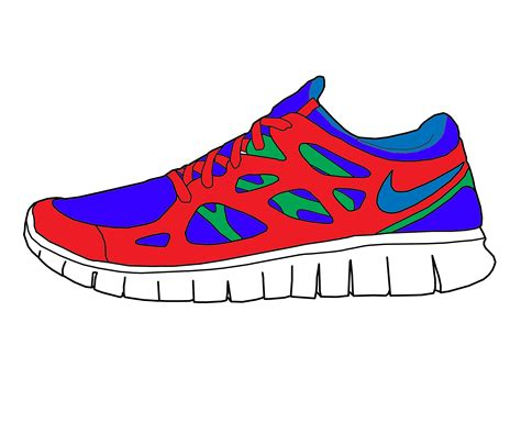 how to draw running shoes how to draw a nike running shoe www pixshark