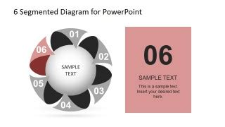 3 step spherical segmented diagram for powerpoint slidemodel 6 steps circular segmented diagram for powerpoint slidemodel