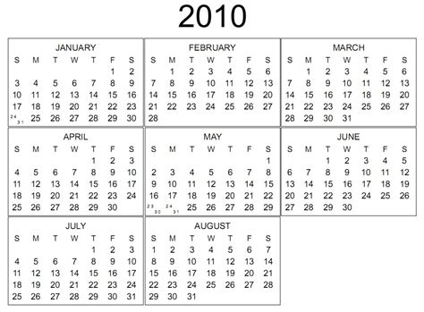 Calendar For 2010 2010 Calendar Yangah Solen
