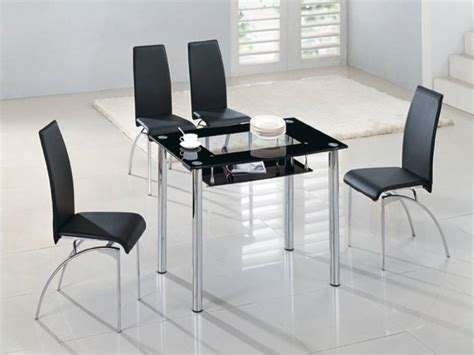 Black Glass Dining Table Make A Special Atmosphere With Black Glass Dining Table