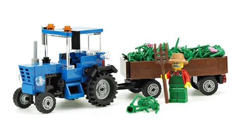 lego tractor tutorial lego tractor quot belarus quot moc building instructions youtube