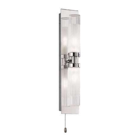 Franklite Bathroom Lights Franklite Lighting Wb534 Chrome Bathroom Wall Light Glass Shades Ip44 Lighting From