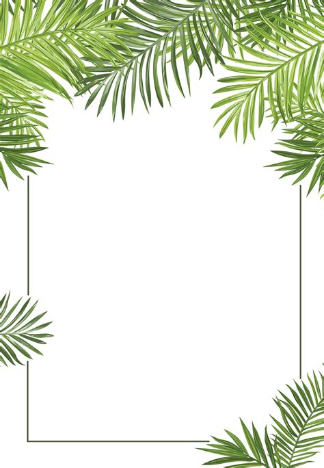 free printable palm leaves palm leaves free printable professional event invitation