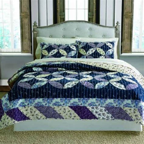 Luxury Patchwork Quilts - keeco luxury 100 cotton patchwork quilt set