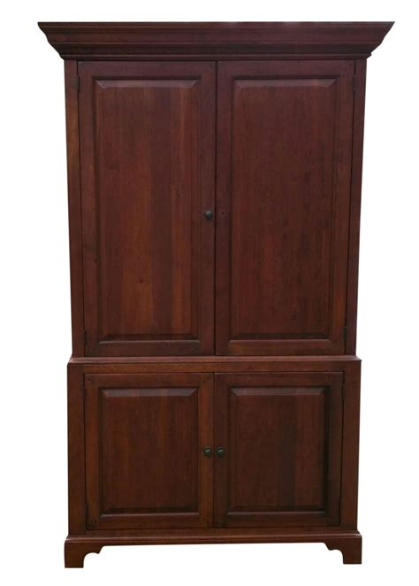 solid wood computer armoire solid wood armoire tv cabinet chairish
