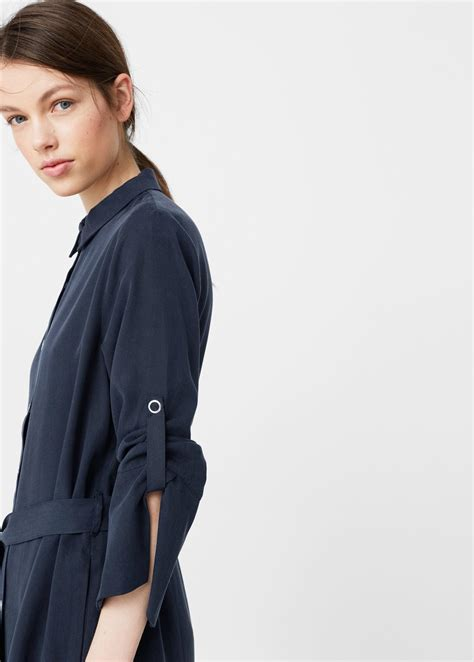 Flowy Shirt Dress Mango lyst mango flowy shirt dress in blue