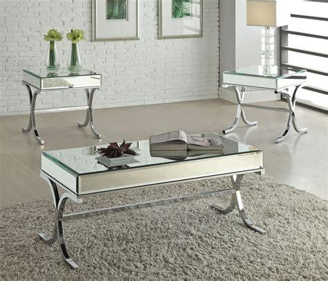 Mirrored Coffee Tables Reece Modern Mirrored Top Coffee Table