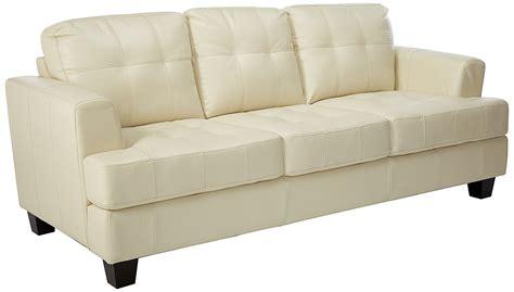 coaster leather sofa coaster samuel collection cream leather sofa home