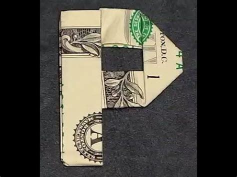 money origami letters 17 best images about origami dollar bill on