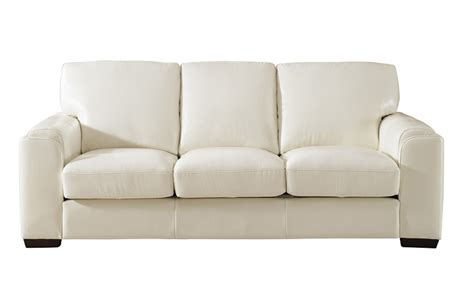 full grain leather sofas suzanne full top grain ivory white leather sofa
