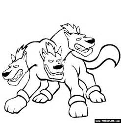 Cerberus Coloring Pages the gallery for gt how to draw cerberus step by step