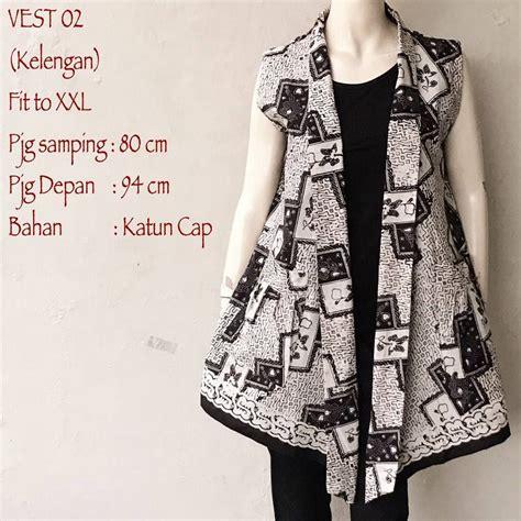 Cardigan Motif Batik By Canseeshop model cardigan batik vest tanpa lengan motif kelengan 2018