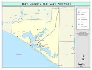 map of bay county florida bay county railway network color 2009