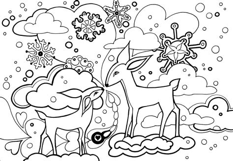 winter coloring page free printable winter coloring pages