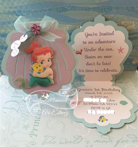 invitaci n de bautizo de princesa para imprimir invitaciones de sirenita para cumplea 241 os